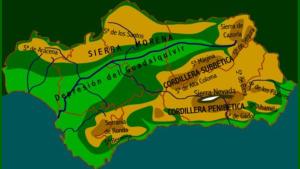 El relieve de Andalucía